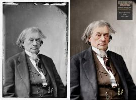 Secretary of State Robert Augustus Toombs (CSA) by ColorizedPast