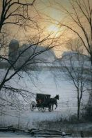 Amish buggy. Peaceful winter by ragamuffin900