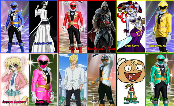 Gokaiger Portrayed by Any Characters by Tabacookie