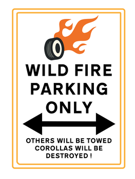 Wild Fire Parking Only (for Sibsy) by AurumNoble