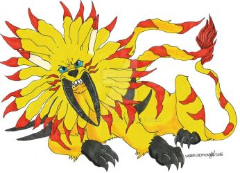 :Digimon: SaberLeomon by Clytemnon