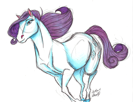 MLP:FIM-DreamWorks Rarity by Stray-Sketches