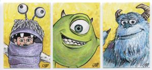 Monsters Inc. sketch cards by tdastick