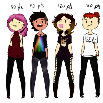 Human adopt batch #2 OPEN by Lafayeeette