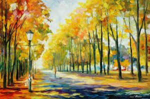 Fall's Path by Leonid Afremov by Leonidafremov