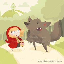 Red Riding Hood meets Mr Wolf by bilmaw