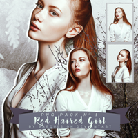 PNG Pack No 1 :: Red Haired Girl by barques