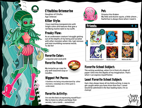 C'thalhina Octomarine Monster High OC by AlleyCat666