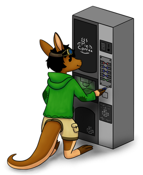 [Art Trade] The Coffee Machine by PyrgusM