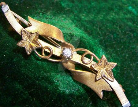 Antique Edwardian Gold-plated 'Sweetheart' Brooch by sevvysgirl