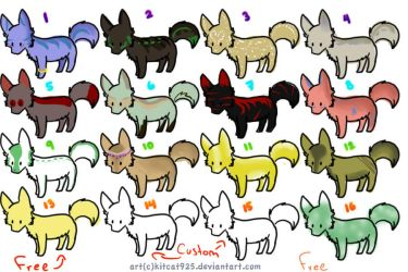 Adoptable wolves by AkitaAkoyiWolf