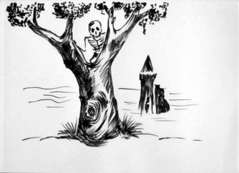 The Tree and a Skeleton 27 08 2016 by ShadTkhom