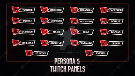 Persona 5 - Twitch Panels by lol0verlay