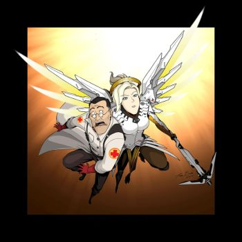Medic and Mercy by tbrendia