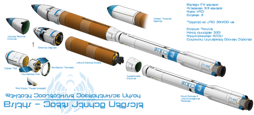 Hilani Mk-7c Orbital Launch Vehicle by Chobittsu-Studios