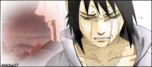 Sasuke cry gif siggy by Mitche27