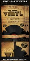 Love Vinyl Party-Club Flyer by Hotpindesigns