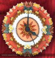 Quilled Wall Clock by DreamWarrior