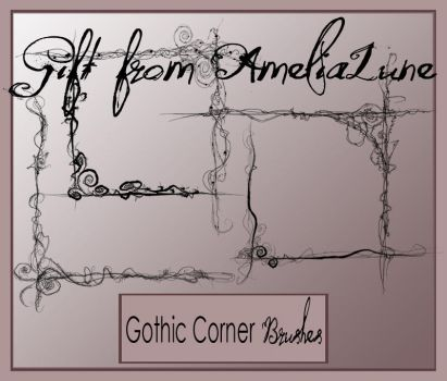 Gothic PS corner brushes by AmeliaLune