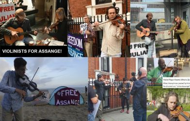 Violinists for Julian Assange by lisa-im-laerm