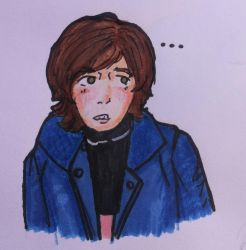 Really awkward looking boy by LovelyMenza