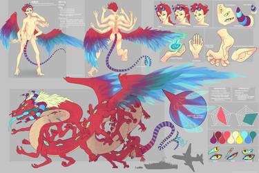 ORIGINAL CHARACTER REFERENCE SHEET - ANDE by creepalopod
