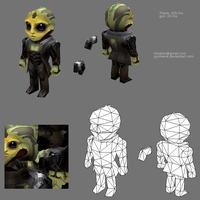 Lowpoly Thane by Pyroxene