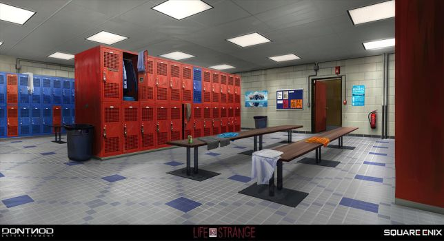 Lockers Room - LIFE IS STRANGE concept by jamga