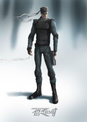 The Legendary Solid Snake by anasrist