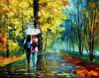Drizzle of emotions by Leonid Afremov by Leonidafremov