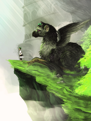 The Last Guardian Jacksepticeye by greenyswolf