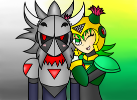 Request: Petal Woman and Necro Man by SnowmanEX711
