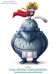 Daily Paint 1997# Full Metal Owlchemist by Cryptid-Creations