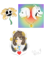 .:Undertale:. Small art dump by TheGGFox