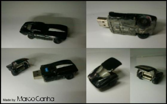 Made a Pen-drive in a Corvette Stingray by MCanha