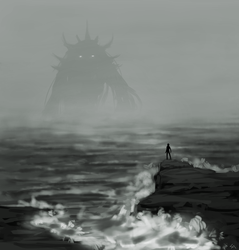 tonight the sea boils by Wolframclaws