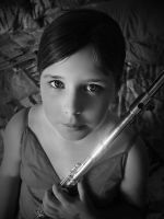 Girl With Flute by Delt4