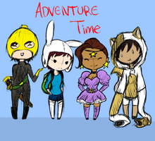 Adventure time buddies by Fishinggurl