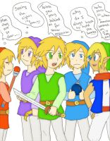 4 swords and Tetra by SparxPunx