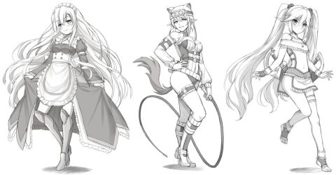 Commission : Sketches by tonee89