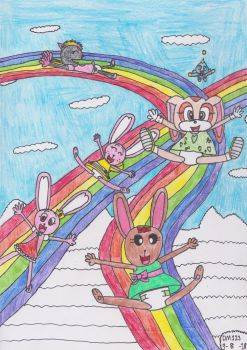 Rainbow Airway Slide by DanielMania123