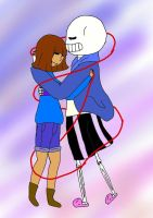 Sans x Frisk by HeyThere99