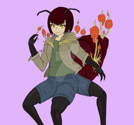 Cordelia the Zombie Ant Monster Girl (revisited) by The-Episiarch