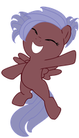 Happy filly Midnight by Squigglz