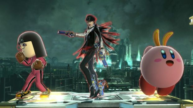 Me Bayonetta and Kirby by user15432
