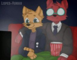Gregg and Agnus Night in the woods  by Lispes-Yunika