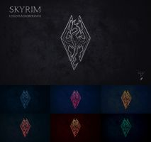 Skyrim Logo Backgrounds Pack by T-Projects
