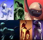 PMDLG Absol Renders by RymNotrim