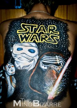 Star Wars The Force Awakens Bodypaint by MagicViper