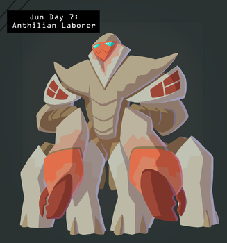 CDC Jun 2018 Day 7 - Anthilian Laborer by EVanimations